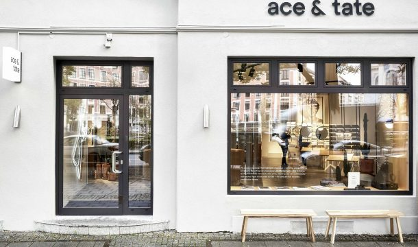 storefront of the new optician store Ace & Tate in Munich