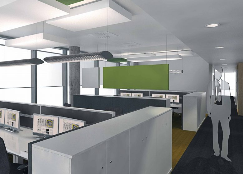 Rendering ot an EY office