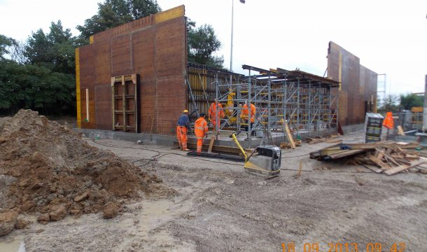 structural work Kentucky Fried Chicken in Schweitenkirchen