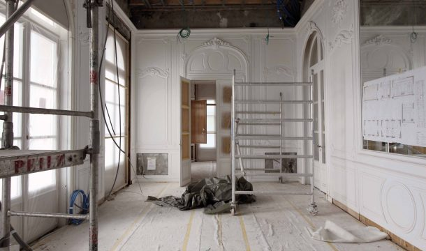 Interior renovation stuccowork with of the Villa Montreux