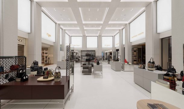 Department Store Alsterhaus with the AccessoriesHall and the presentation of luxury brands