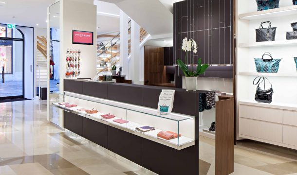 sales counter for Longchamp in Munich
