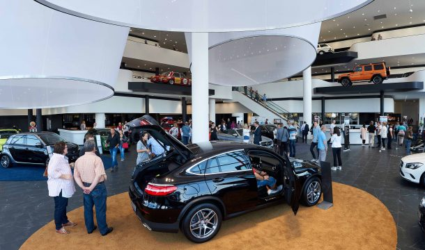 Store opening of Mercedes store in Offenbach, Germany