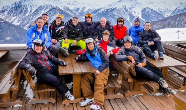 Ganter Group employees ski holiday