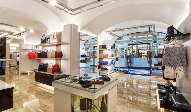 Longchamp store in Moscow, built by Ganter