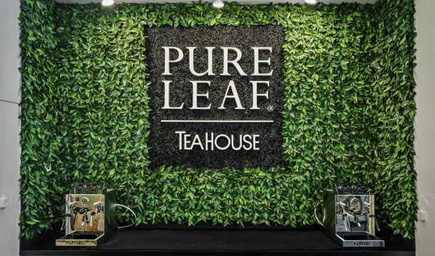 wall decoration at Pure Leaf store- realised by Ganter