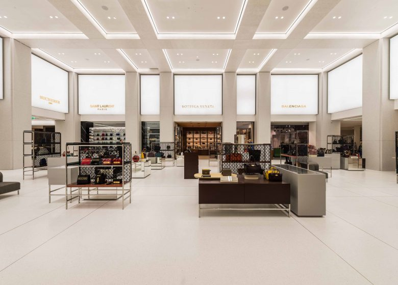 Department Store Alsterhaus with the Accessories Hall and the presentation of luxury brands