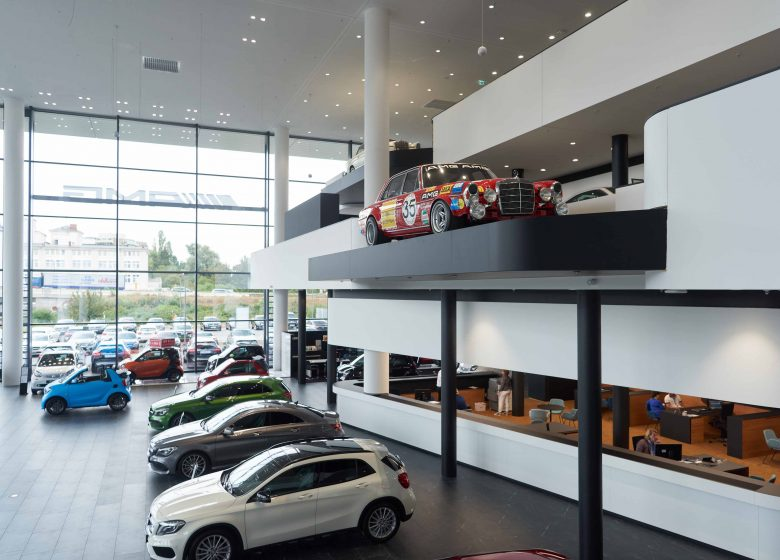 Mercedes store in Offenbach, Germany