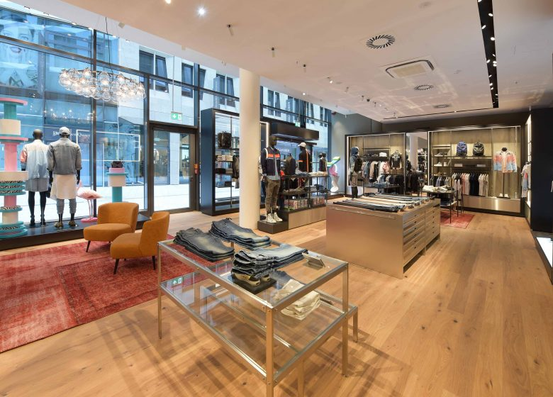 impressions of the Diesel store in Stuttgart