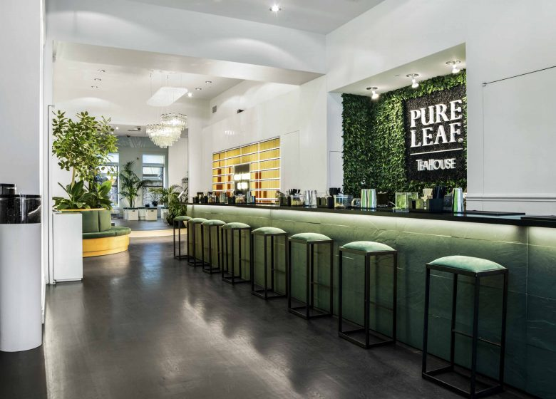 counter at Pure Leaf - realised by Ganter